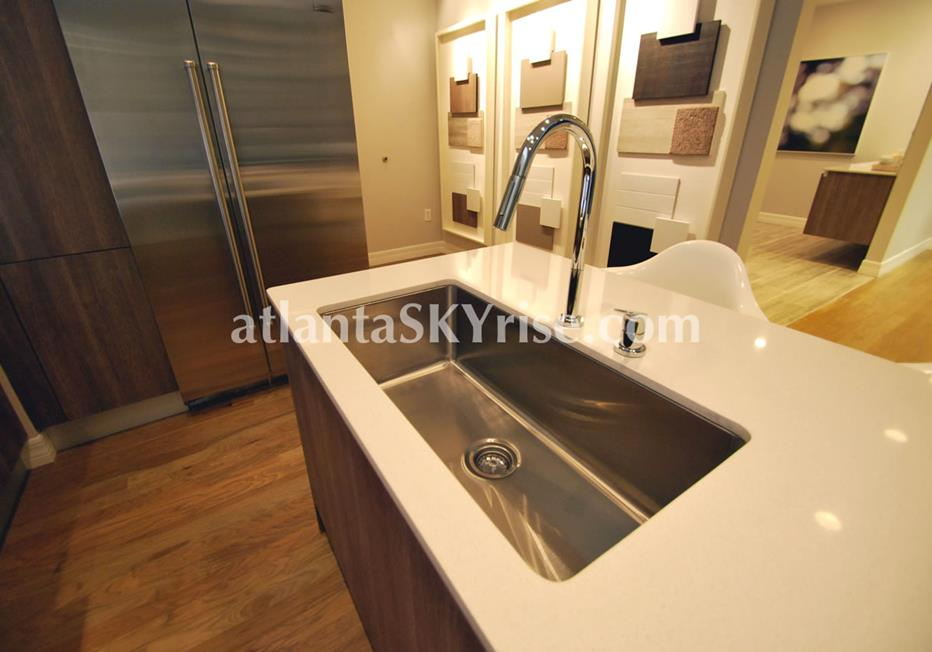 Seventh Midtown Atlanta Condo Kitchen With High End Finishes