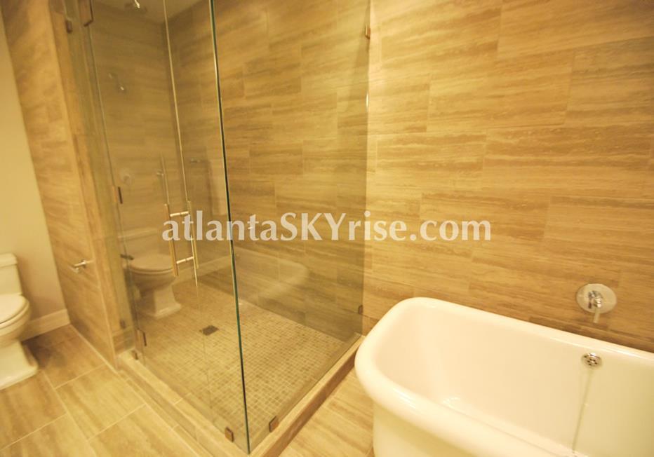 Seventh Midtown Atlanta GA Condo Luxurious Bath